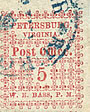 Scott #65X1 - Petersburg, Viriginia postmaster provisional used with blue town cancel