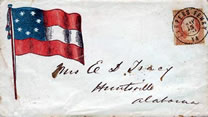 11-star flag patriotic cover bearing U.S. Scott #26 from Harper's Ferry, West Virginia